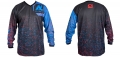 New Legion ultimate Pro Paintball Jersey - dash red/blue M/L