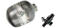 DYE Armotech Core Air Tank 0,8 Liter HP System inkl. Dye LT Throttle Regulator 300bar (4500psi)