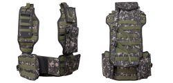 NXe Tactical MagFed Paintball Weste inkl. Battlepack & allen Zusatztaschen