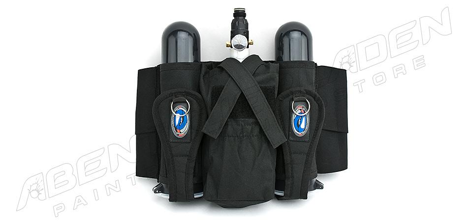 2 + 1 Flaschenhalter mit Comfort Gürtel schwarz