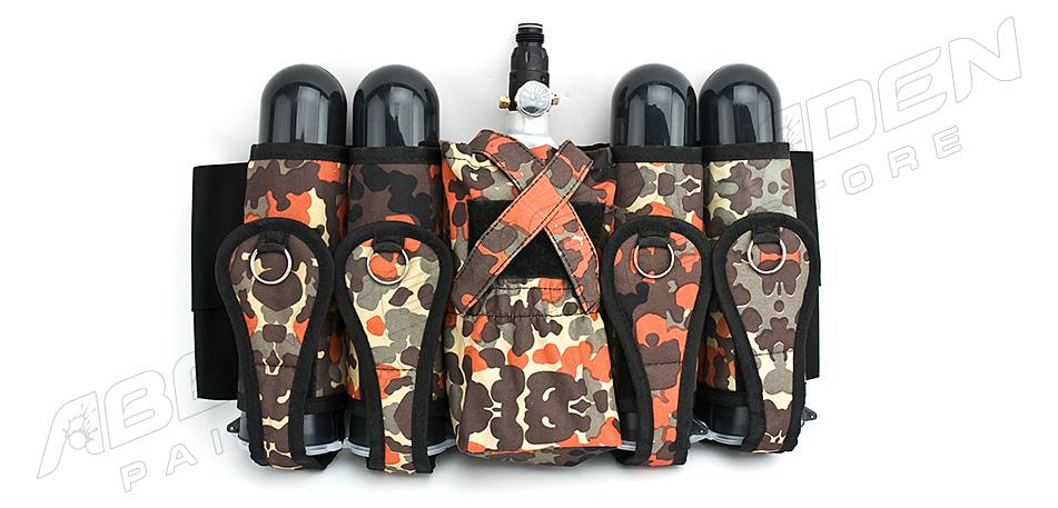 4 + 1 Flaschenhalter mit Comfort Gürtel Cordura flecktarn
