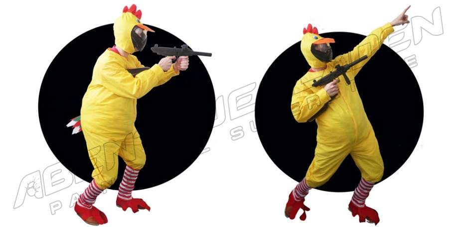 Paintball Kostüm Huhn
