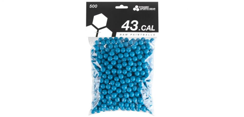 Dynamic Sports Gear RAM Paintballs cal.43  - 500 Stück - blau