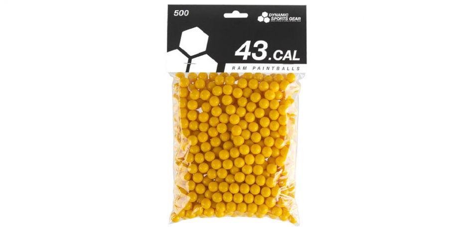 Dynamic Sports Gear RAM Paintballs cal.43  - 500 Stück - gelb