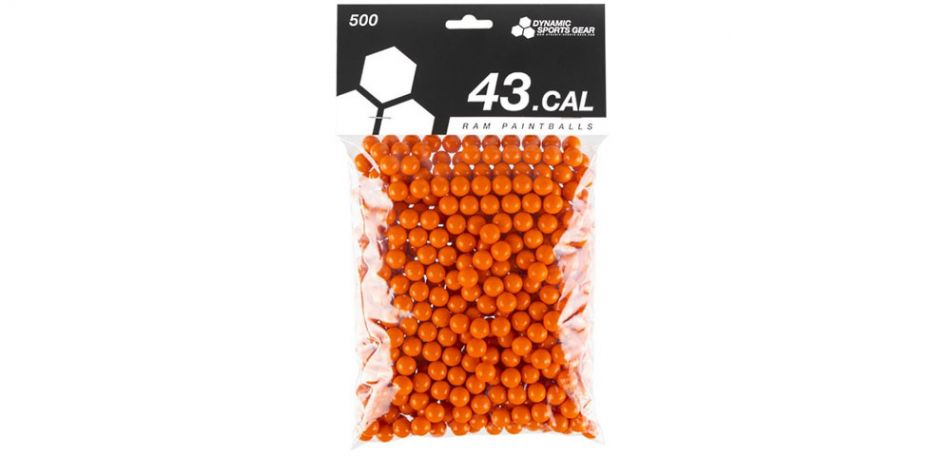 Dynamic Sports Gear RAM Paintballs cal.43 - 500 Stück - orange