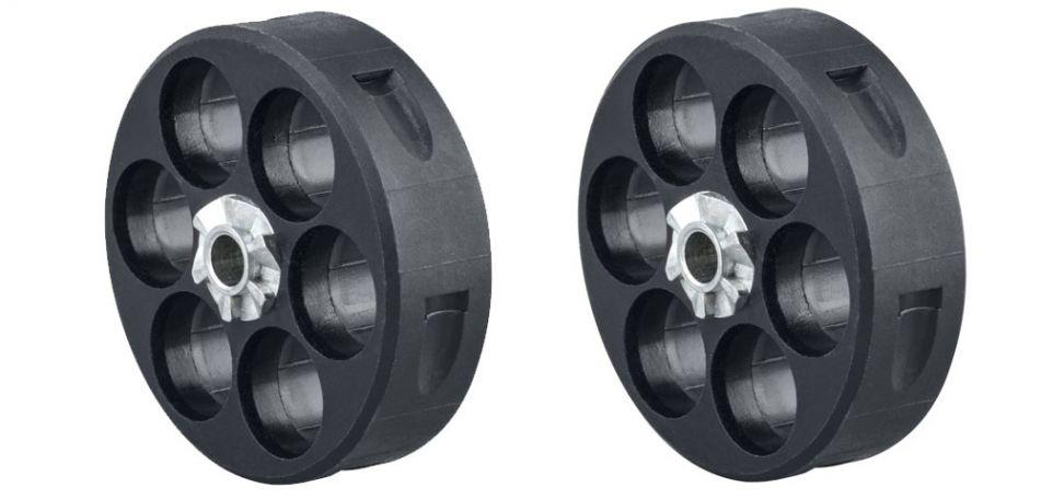 Magazin / Ersatztrommel für Umarex T4E HDR 50 RAM Revolver cal.50 - 6-Schuss - 2er Pack