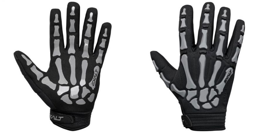 Exalt Death Grip Gloves Vollfinger / Paintball Handschuhe grau M