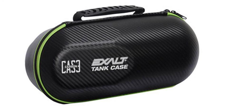 Exalt Tank Case - Paintball Flaschen Tasche - Carbon black/lime