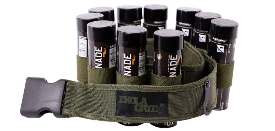 Enola Gaye Gürtel für Rauchgranaten oliv