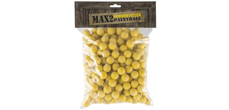 MAX2 Paintball Powderballs / Pulvergeschosse - 250 Stück