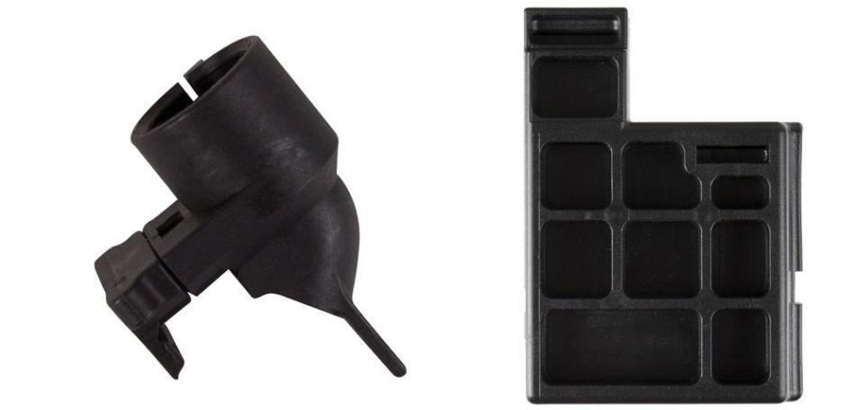 Milsig M17 Dummy Magazin / Magwell Plug & Milsig CQC Hopper Feed Neck Set / Hopperaufsatz
