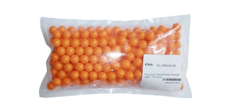 New Legion Tactical Power Paintballs cal.50 - 250 Stück