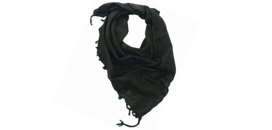Shemagh / PLO Tuch mit Fransen schwarz