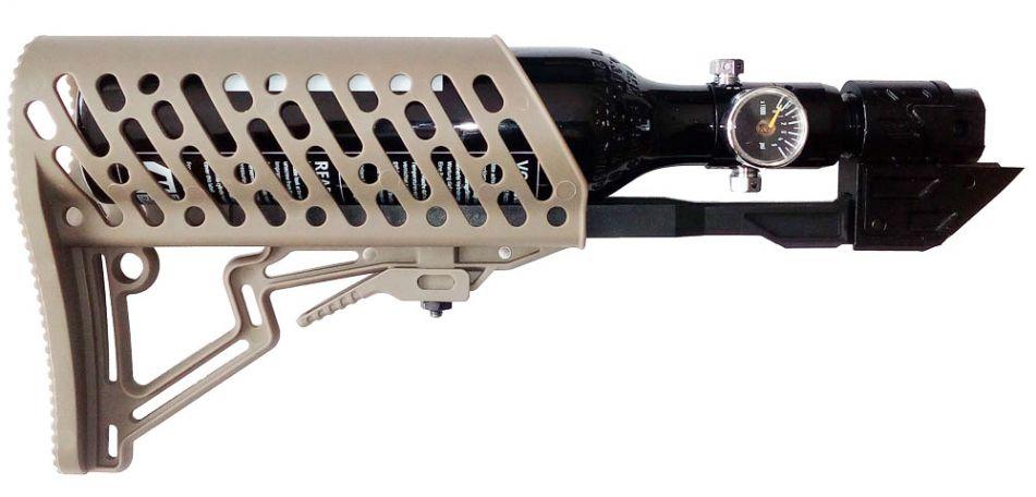 Tippmann TMC Air-Thru Stock / Schulterstütze komplett inkl. 0,2 Liter HP Sytem - tan