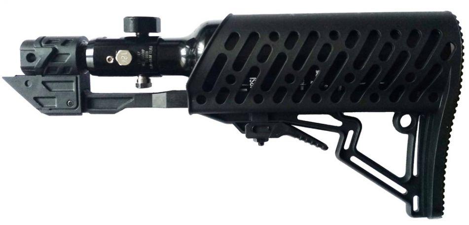 Tippmann TMC Air-Thru Stock / Schulterstütze komplett inkl. 0,2 Liter HP Sytem - black