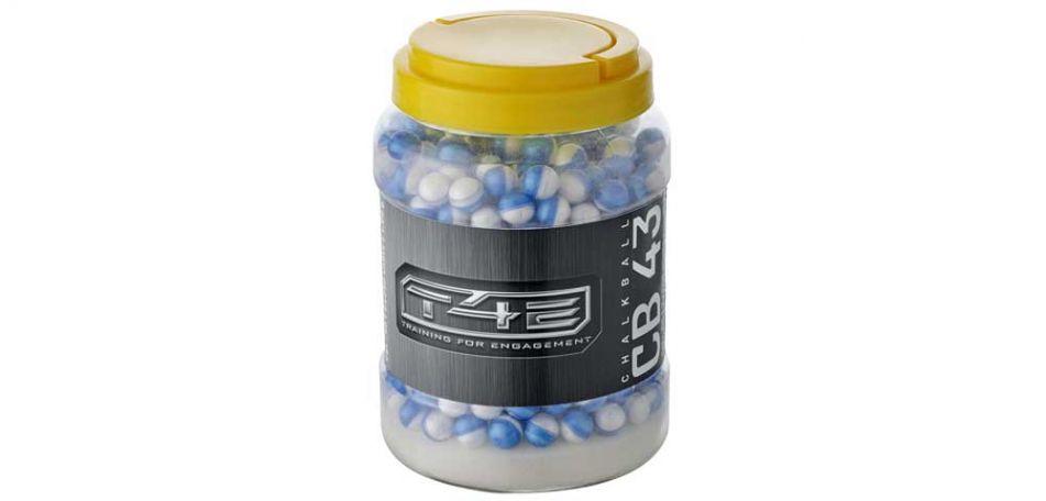 Umarex T4E CB 43 Chalkballs / Kreidebälle cal. 43 - 500 Stück