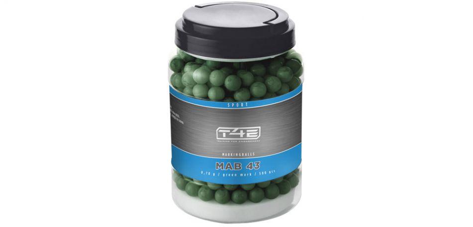 Umarex T4E Sport MAB / Markingballs Green cal. 43 - 500 Stück