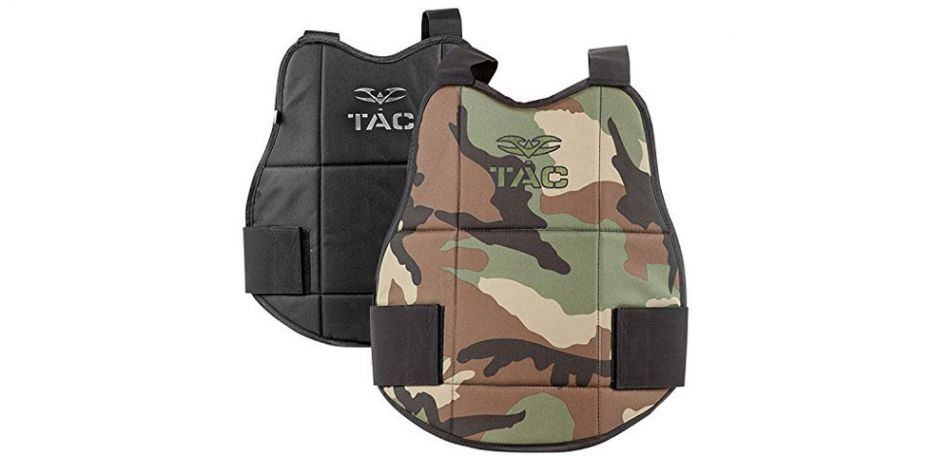 Valken V-Tac Chest Protector / Brustpanzer - woodland/black wendbar