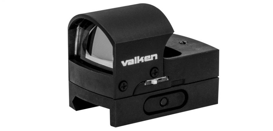 Valken Mini Hooded Reflex Red Dot Sight - black
