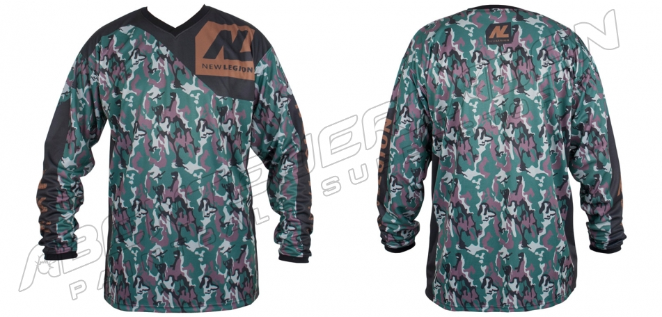 New Legion ultimate Pro Paintball Jersey - woodland camo XS/S