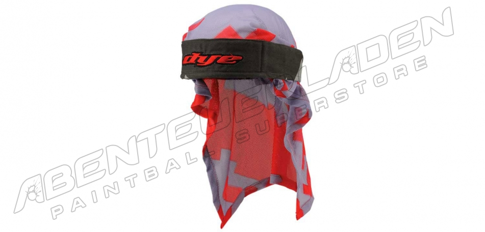 Dye Wrap Bandana mit Netz airstrike orange white