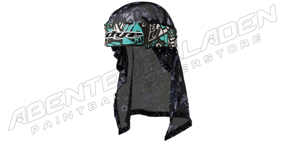 Dye Wrap Bandana mit Netz Eskimo teal grey black