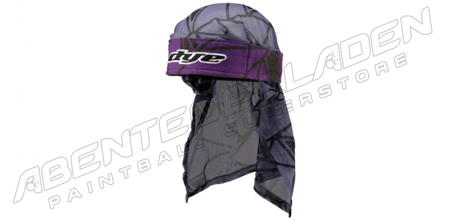 Dye Wrap Bandana mit Netz Infused purple black grey