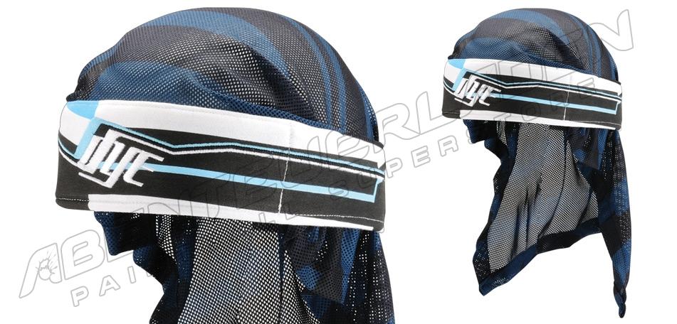 Dye Wrap Bandana mit Netz Line white