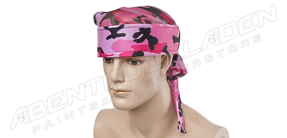 Bandana mit Netz pink