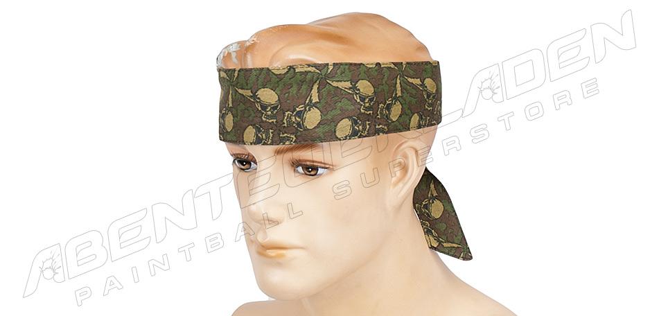 Sandana Headband Flying Skulls green