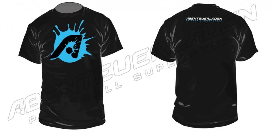 Abenteuerladen A-Splat T-Shirt schwarz L