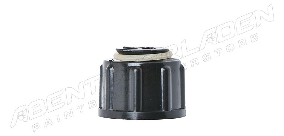 Ventilschutzkappe mit O-Ringaufnahme schraubbar schwarz