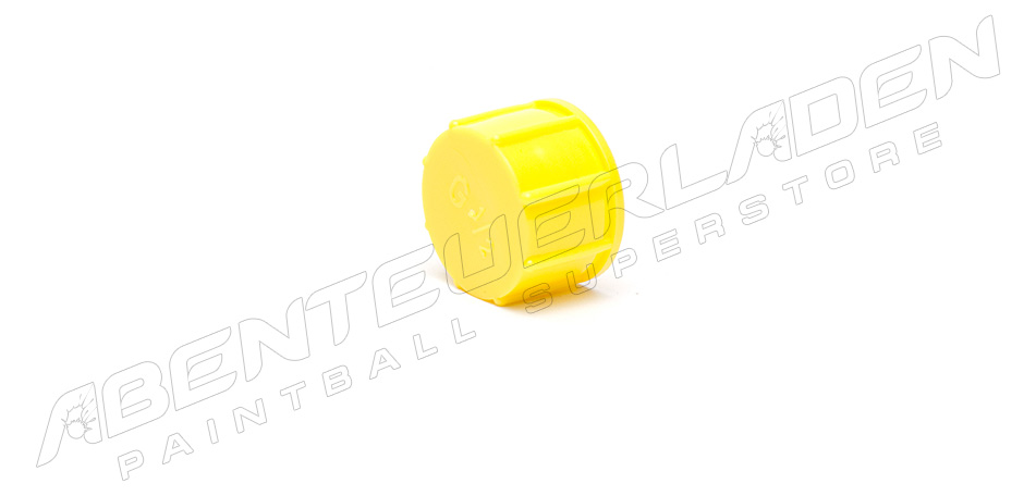 Ventilschutzkappe schraubbar gelb