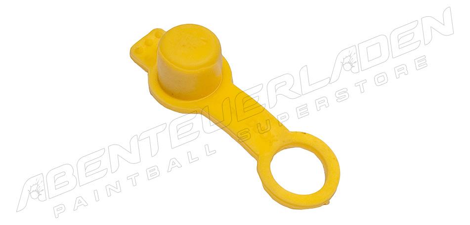 Füllnippelschutz mit Schlaufe gelb