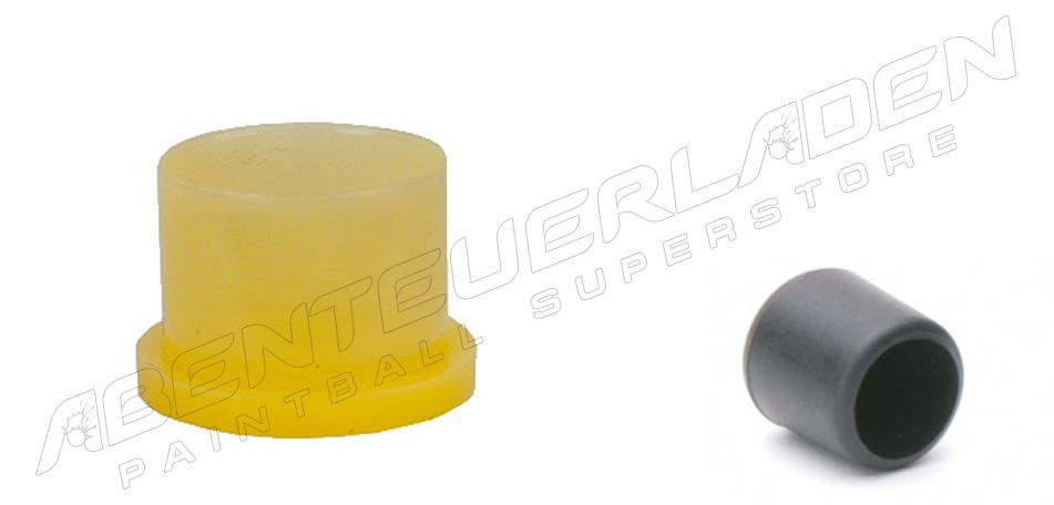 Füllnippelschutzkappe schwarz & Ventilschutzkappe gelb steckbar