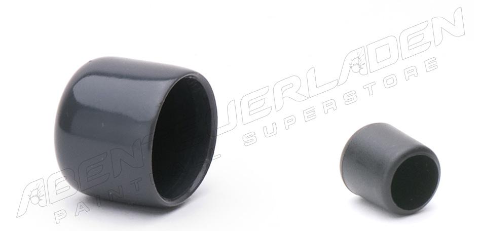 Füllnippelschutzkappe  schwarz & Ventilschutzkappe grau