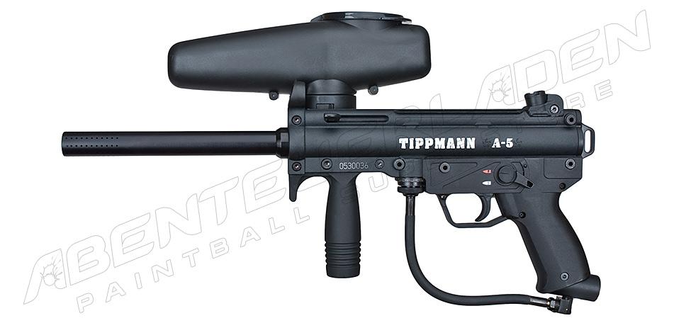 Tippmann A5 schwarz + Offset Adapter + Tac Cap
