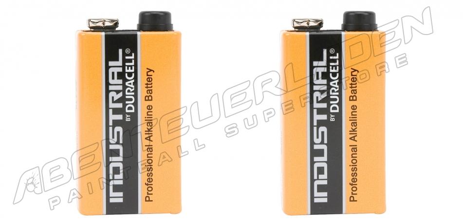 2 Stück Duracell Industrial 9 Volt Block Batterien