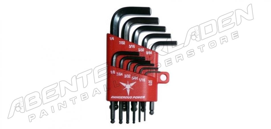 Dangerous Power Innensechskantschlüssel Set 11-teilig (Zoll)