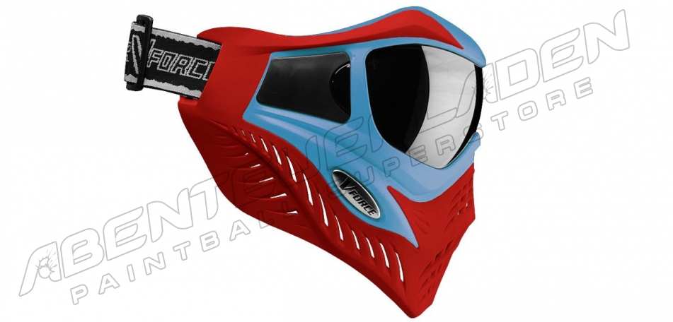 VForce Grill Thermalmaske Limited blue on red