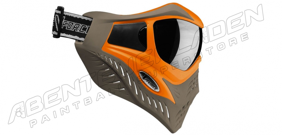 VForce Grill Thermalmaske Limited orange on taupe