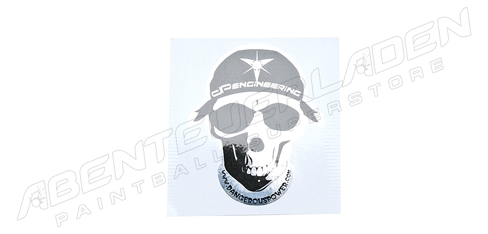 Dangerous Power DP Skull Aufkleber