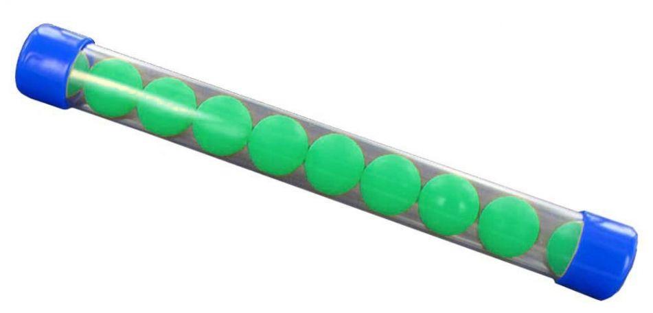 New Legion Rubberballs / Gummibälle cal.68 - 10 Stück - grün