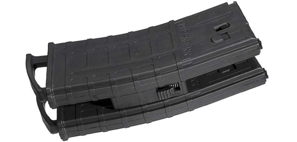 Tippmann 20-Schuss Magazin mit Coupler / Magazinverbinder für TMC - 2er Pack - black