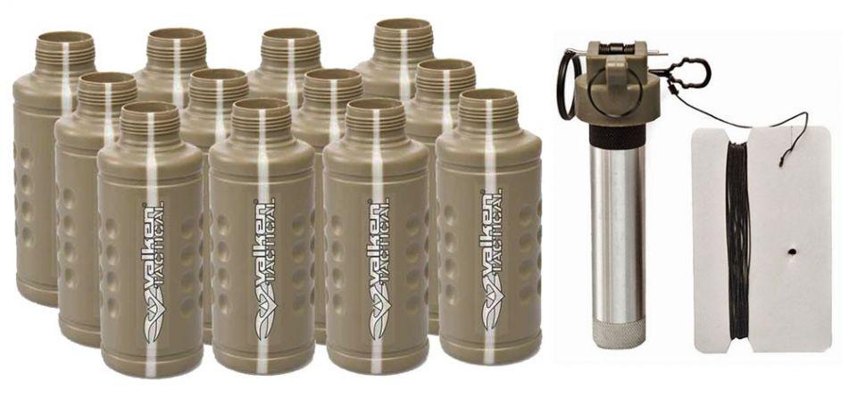 Valken Tactical Thunder B CO2 Knallgranate / Soundgranate mit Core - 12er Pack Shocker