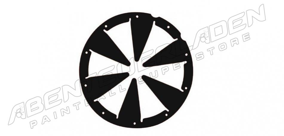 xLin Dye Rotor Feedgate - schwarz