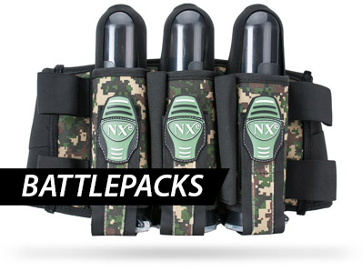 Viele verschiedene Paintball Battepacks